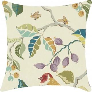 Birds & Berries Fabric 226729 by Sanderson