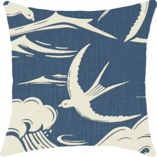 Swallows At Sea Fabric 226741 by Sanderson
