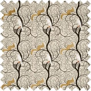 Squirrel and Dove Fabric DVIPSQ301 by Sanderson
