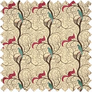 Squirrel and Dove Fabric DVIPSQ302 by Sanderson