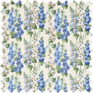 Hollyhocks Fabric 224308 by Sanderson