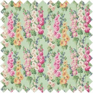 Hollyhocks Fabric 224309 by Sanderson