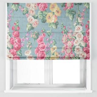 Hollyhocks Fabric 224310 by Sanderson
