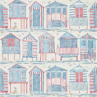 Beach Huts Wallpaper 216559 by Sanderson