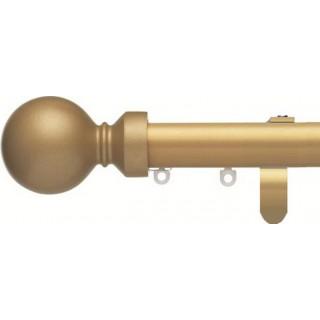 Silent Gliss 6130 Metropole 30mm Sand Overture Ball Aluminium Curtain Pole