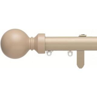 Silent Gliss 6130 Metropole 30mm Taupe Overture Ball Aluminium Curtain Pole
