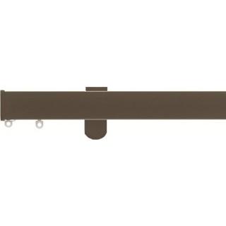 Silent Gliss SG 6100 Metroflat Hand Drawn Antique Bronze Aluminium Stud Endcap Curtain Track