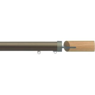 Silent Gliss 6130 Metropole 30mm Antique Bronze Oak Fused Barrel Aluminium Curtain Pole