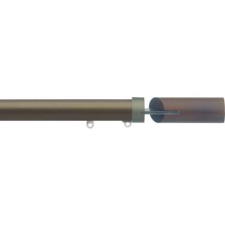 Silent Gliss 6130 Metropole 30mm Antique Bronze Walnut Fused Barrel Aluminium Curtain Pole