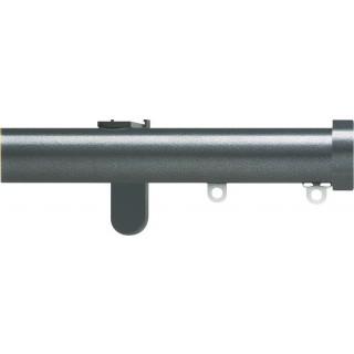 Silent Gliss 6130 Metropole 30mm Gunmetal Stud Endcap Aluminium Curtain Pole