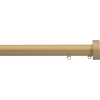 Silent Gliss 6130 Metropole 30mm Sand Design Endcap Aluminium Curtain Pole