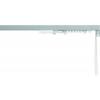 Silent Gliss System 3870 Corded Anodic Grey Effect Aluminium Curtain Track