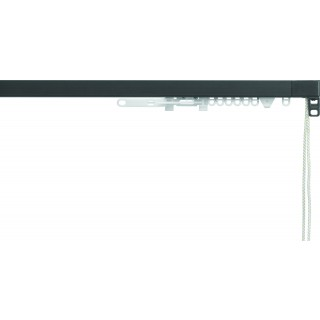 Silent Gliss System 3870 Corded Charcoal Effect Aluminium Curtain Track
