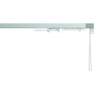 Silent Gliss System 3870 Corded Silver Effect Aluminium Curtain Track