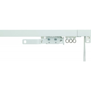 Silent Gliss System 3970 Corded White Effect Aluminium Curtain Track