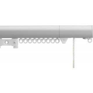 Silent Gliss Corded 6120 Metropole 30mm Anodic Grey Flush Endcap Aluminium Curtain Pole