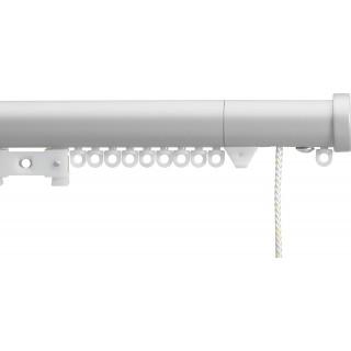 Silent Gliss Corded 6120 Metropole 30mm Anodic Grey Stud Endcap Aluminium Curtain Pole