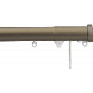 Silent Gliss Corded 6120 Metropole 30mm Antique Bronze Stud Endcap Aluminium Curtain Pole