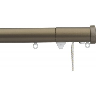 Silent Gliss Corded 6120 Metropole 30mm Antique Bronze Stud Endcap Aluminium Curtain Pole