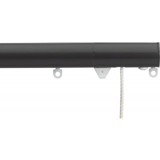 Silent Gliss Corded 6120 Metropole 30mm Black Flush Endcap Aluminium Curtain Pole