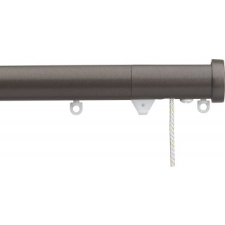 Silent Gliss Corded 6120 Metropole 30mm Bronze Stud Endcap Aluminium Curtain Pole