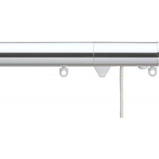 Silent Gliss Corded 6120 Metropole 30mm Chrome Flush Endcap Aluminium Curtain Pole