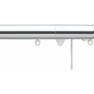 Silent Gliss Corded 6120 Metropole 30mm Chrome Flush Endcap Aluminium Curtain Pole