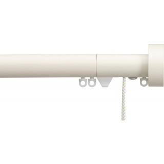 Silent Gliss Corded 6120 Metropole 30mm Ecru Design Endcap Aluminium Curtain Pole