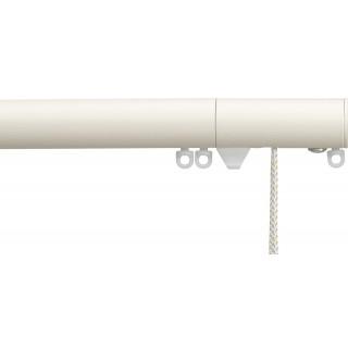 Silent Gliss Corded 6120 Metropole 30mm Ecru Flush Endcap Aluminium Curtain Pole