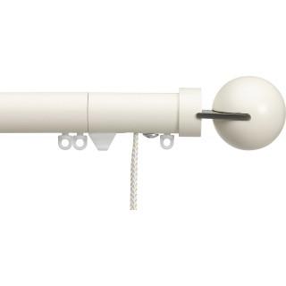 Silent Gliss Corded 6120 Metropole 30mm Ecru Matched Fused Ball Aluminium Curtain Pole