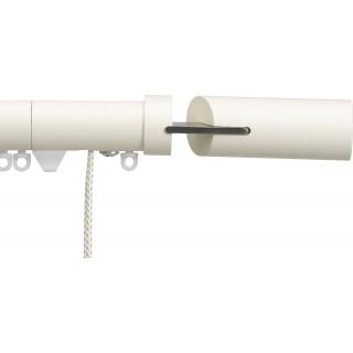 Silent Gliss Corded 6120 Metropole 30mm Ecru Matched Fused Barrel Aluminium Curtain Pole