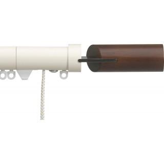 Silent Gliss Corded 6120 Metropole 30mm Ecru Walnut Fused Barrel Aluminium Curtain Pole