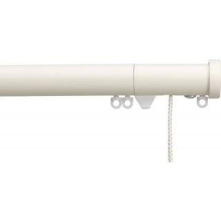Silent Gliss Corded 6120 Metropole 30mm Ecru Stud Endcap Aluminium Curtain Pole