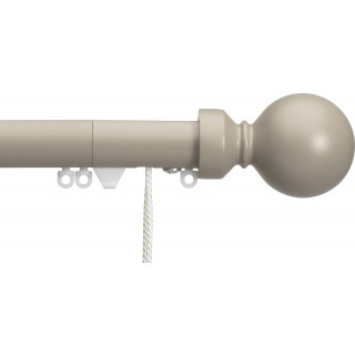 Silent Gliss Corded 6120 Metropole 30mm Ochre Overture Ball Aluminium Curtain Pole