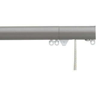 Silent Gliss Corded 6120 Metropole 30mm Slate Grey Flush Endcap Aluminium Curtain Pole