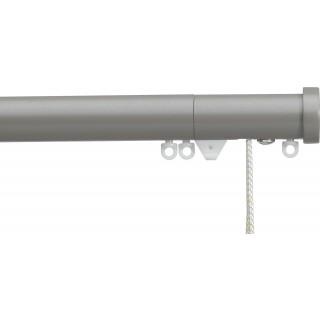 Silent Gliss Corded 6120 Metropole 30mm Slate Grey Stud Endcap Aluminium Curtain Pole