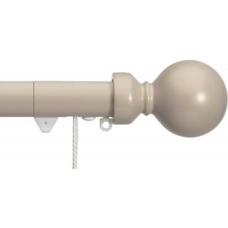 Silent Gliss Corded 6120 Metropole 30mm Taupe Overture Ball Aluminium Curtain Pole