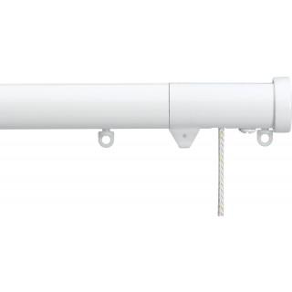 Silent Gliss Corded 6120 Metropole 30mm White Stud Endcap Aluminium Curtain Pole
