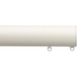 Silent Gliss 6140 Metropole 50mm Ecru Flush Endcap Aluminium Curtain Pole