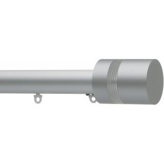 Silent Gliss 6140 Metropole 50mm Silver Clear Ribbed Disc Strata Aluminium Curtain Pole
