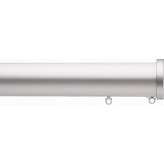 Silent Gliss 6140 Metropole 50mm Silver Stud Endcap Aluminium Curtain Pole