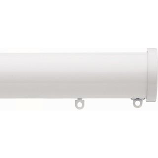 Silent Gliss 6140 Metropole 50mm White Stud Endcap Aluminium Curtain Pole