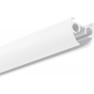 Silent Gliss SG 6840 Hand Drawn Matt White Aluminium Curtain Track