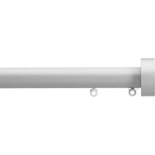 Silent Gliss 6130 Metropole 30mm Anodic Grey Design Endcap Aluminium Curtain Pole