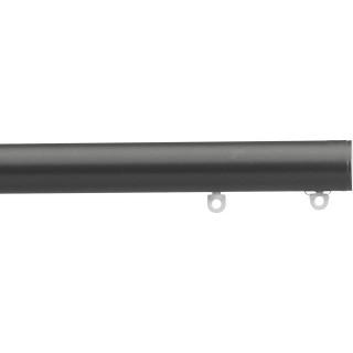 Silent Gliss 6130 Metropole 30mm Charcoal Flush Endcap Aluminium Curtain Pole
