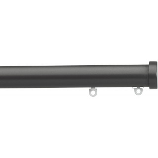 Silent Gliss 6130 Metropole 30mm Charcoal Stud Endcap Aluminium Curtain Pole