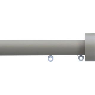 Silent Gliss 6130 Metropole 30mm Slate Grey Design Endcap Aluminium Curtain Pole