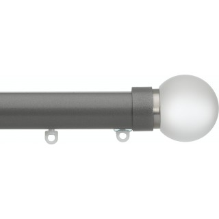 Silent Gliss 6130 Metropole 30mm Gunmetal Frosted Ball Aluminium Curtain Pole