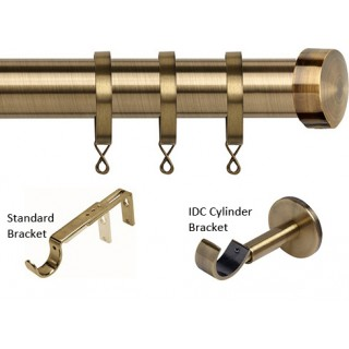 Speedy Poles Apart 28mm Antique Brass Effect Metal Curtain Pole