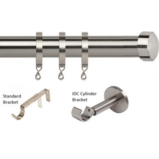 Speedy Poles Apart 28mm Satin Silver Effect Metal Curtain Pole